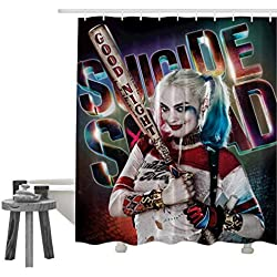 51odp-FI7NL._AC_UL250_SR250,250_ Harley Quinn Shower Curtains
