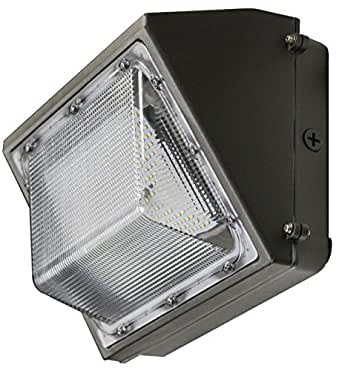 T B F Watt LED WallPack Die Cast Aluminum with Poly Carbonate Lens (120 Watt 4000K)