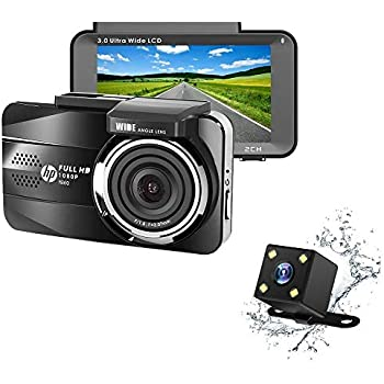 Loop Recording Dragon Touch Dash Cam 3 LCD 1080P Full HD Dash Camera