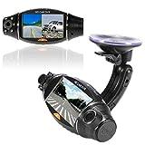 dash board dvr - Aobiny Dashboard Vehicle Dual Lens Camera 2.7