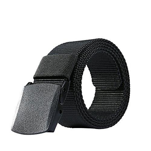 Nylon Belt Outdoor Men's Military Tactical Belt Casual Belt Plastic Automatic Buckle (Canvas Classic Belt)