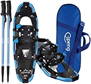 Gpeng Lightweight Snowshoes for Women Men Youth Kids, Aluminum Terrain Snow Shoes with Trekking Poles and Carr