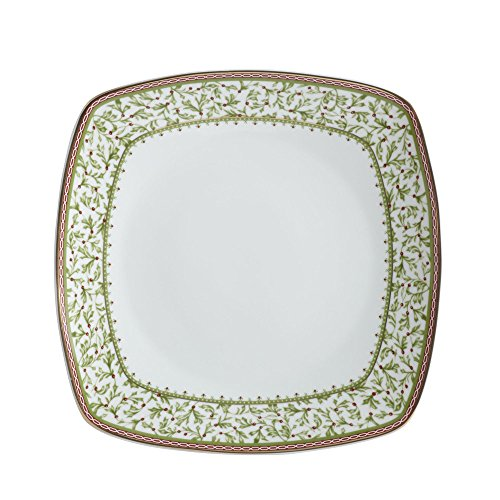 - Mikasa Holiday Traditions Square Dinner Plate, 10-1/4-Inch