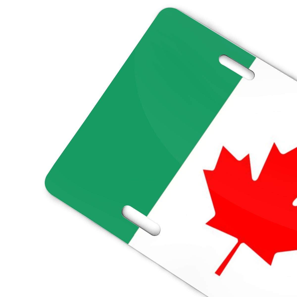 Canadian Irish Flag Retro License Plates Metal Signs Car Decoration Tag 6x12 in