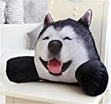 Skyseen 3D Dog Shaped Lumbar Support Backrest Pillow Waist Seat Back Cushion in Home Office School Car,B