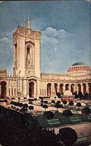 Abundance Postcard (Mullgardt's Tower - Court of Abundance San Francisco, California Original Vintage Postcard)