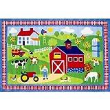 Olive Kids Country Farm Kids Rug Rug Size: 1'7'' x 2'5''