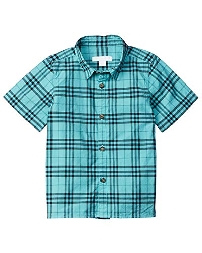 Burberry Boys Check Woven Shirt, 10Yr, Blue
