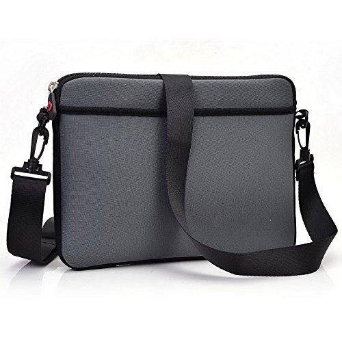 Kroo Tablet Sleeve mit abnehmbarem Tragegurt Neopren Schutzhülle für ZTE Optik Tablet grau grau grau NAnclD