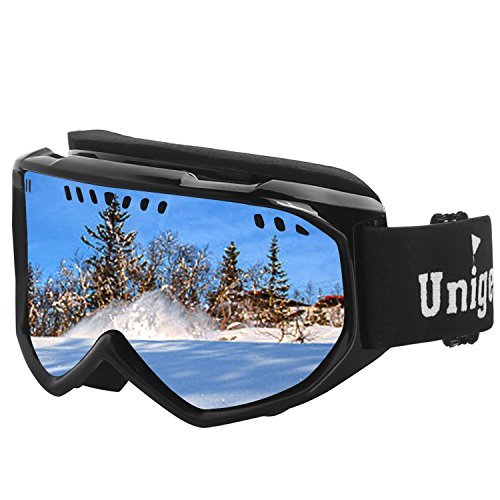 Unigear Ski Goggles, Anti-fog Snow Snowboard OTG Goggles 100% UV Protection for Men, Women and - Revo Vintage