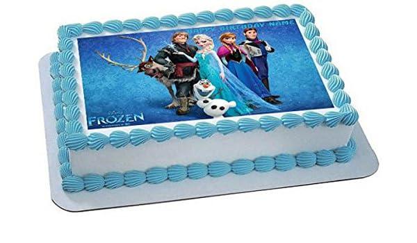 Amazon FROZEN 3 Edible Birthday Cake OR Cupcake Topper