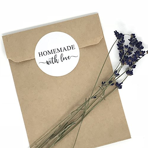 (Homemade With Love Stickers, Backed Good Stickers, Homemade Packaging, Homemade)