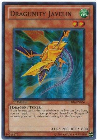 Yu-Gi-Oh! - Dragunity Javelin (HA04-EN014) - Hidden Arsenal 4: Trishulas Triumph - 1st Edition - Super Rare