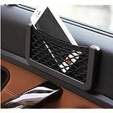 Mstick Car Accessories Mobile Phone Car Holder String Bag (Black)