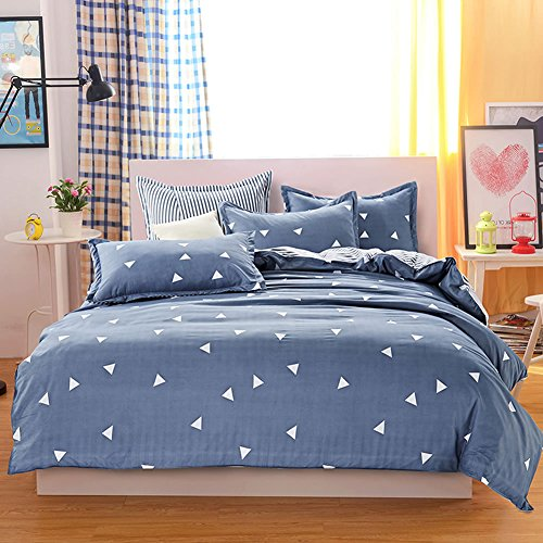 Brushed Polyester Cover (Uozzi Bedding 3 Piece Duvet Cover Set King, Reversible Printing with Brushed Microfiber, Lightweight Soft, Comfortable , Durable (Gray,)