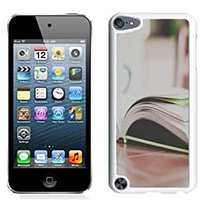 NEW Unique Custom Designed iPod Touch 5 Phone Case With Open Book On Table_White Phone Case