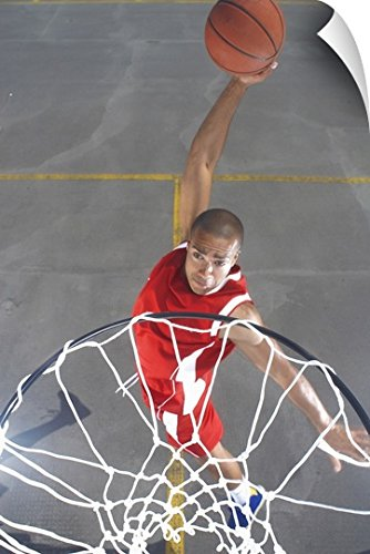 fan products of Canvas On Demand Wall Peel Wall Art Print entitled Basketball player about to dunk