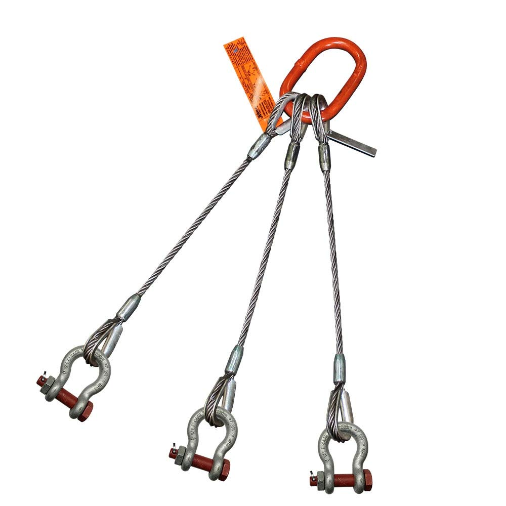 HSI 3//8 x 10 Single-Leg Wire Rope Sling EIPS 6x25 IWRC 1.4 Ton Vertical Rated Capacity Heavy-Duty Thimble-to-Thimble