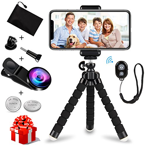 Cheap Selfie Sticks & Tripods iPhone Tripod, WEIO【2018 Upgraded】Phone Tripod Portable Adjustable Tripod for iPhone Flexible Tripod..