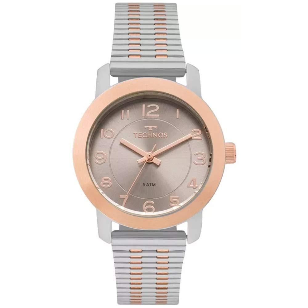 c0eedbef6ab Relógio Feminino Technos Elegance 2035MLS 5C - Prata Rosê  Amazon.com.br   Amazon Moda