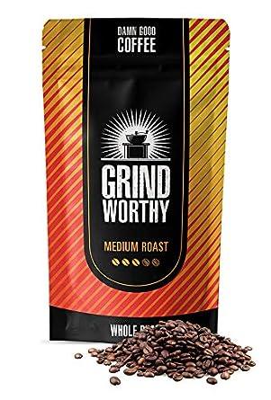 Dark 16 oz // 1 pound Grind Worthy Roasted Coffee Beans Best Coffee, Highest Quality Taste