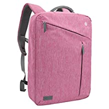 Laptop Briefcase Backpack, Evecase Water Resistant Convertible Laptop Canvas Briefcase Backpack - fits up to 17.3 inch Laptop - Pink