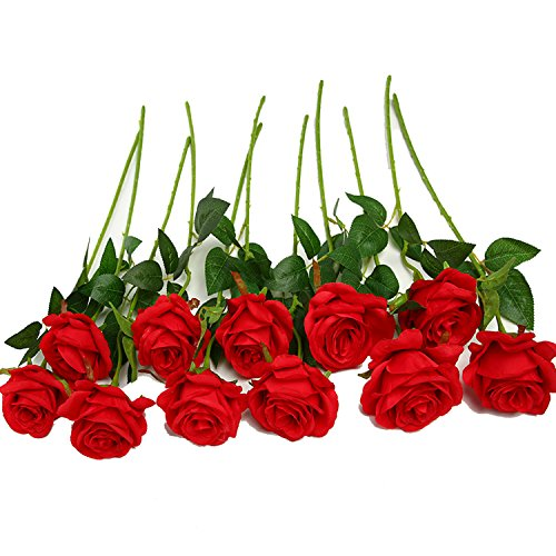 10pcs Artificial Rose Silk Flowers