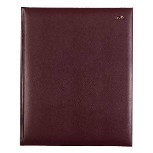 Lett's 2015 Classic Planner, Desk, Week to View, Goldcorn Burgundy, 10.25 x 8.25 Inches (C32YBY-15) (2015 London Planner)