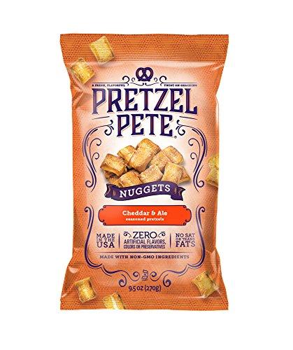 - Pretzel Pete Seasoned Pretzel Nuggets, Cheddar & Ale, 9.5 Ounce Bag (Pack of 3)