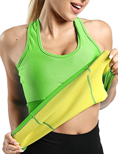 NonEcho Neoprene Workout Tank Top Women Sweat Vest Weight Loss Hot Thermal Sauna Body Shaper with Pocket