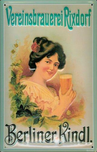 Cartel de Chapa nostálgico Berliner Kindl Verein cervecería ...