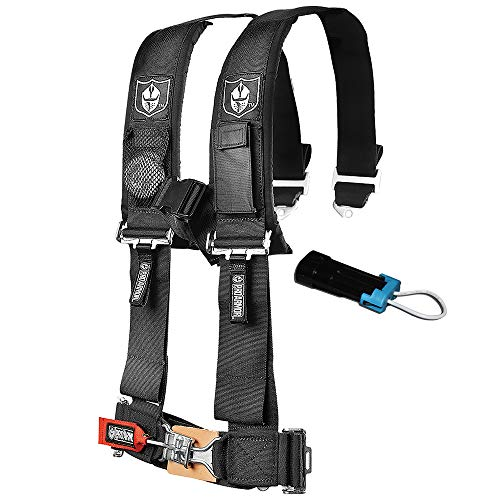 (Pro Armor A114230 P151100 Black 4-Point Harness 3 Inch Straps RZR UTV Seat Lap Belt with Bypass Clip)