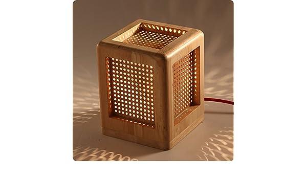 WINZSC Lámparas de Mesa Estilo Japón Estudio lámpara Cuadrada ...