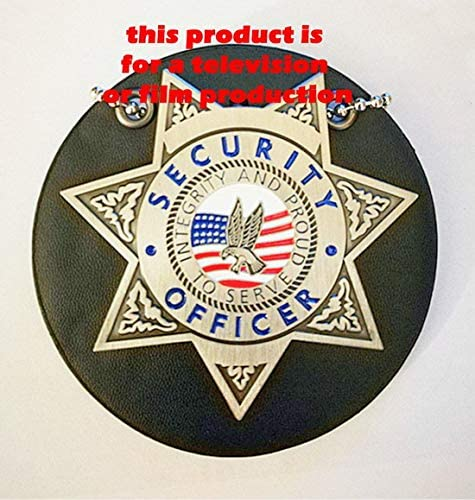 Obsolete Mini Gold NY Correctional SVCS TV Series//Movie Prop on Family Members Leather ID Holder//Wallet USMPC Movie Prop Collection U.S