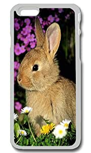 Cute Gray Rabbit Personalized Custom iPhone 6 Case Cover - PC Transparent