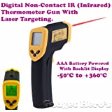 Gadget Hero's Non-Contact IR Infrared Digital Thermometer Gun With Laser Targeting.