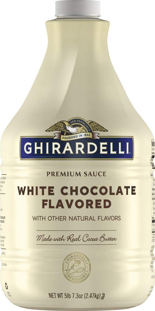 Ghirardelli Premium Sauce White Chocolate Flavored with other natural flavors, 87.3 Ounce Bottle
