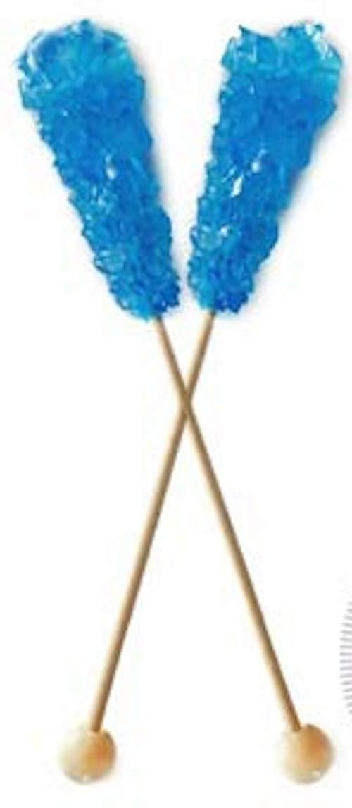 Rock Candy, 72 Blue Raspberry Swizzle Sticks
