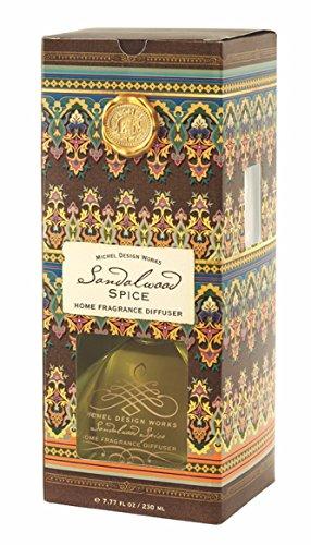 Sandalwood Diffuser Reed - Michel Design Works Home Fragrance Reed Diffuser, Sandalwood Spice