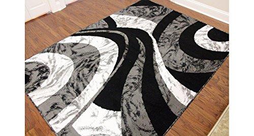 Royal Trading Eldorado Modern Design Printed Swirls Area Rug, Luxurious, Elegant, and Fashionable Area Rug (5'3