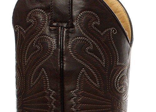 Grinders Carolina marron Croc estilo de cuero botas de vaquero de la cola de inicio