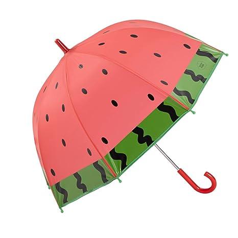 Gotta Parapluie pour enfant - Résistant au vent Pastèque Paraguas clásico, 62 cm, Rojo