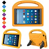 eTopxizu Kids Case Compatible All-New Amazon Fire HD 8 2017/2018 - Shock Proof Light Weight Convertible Handle Stand Kids Case Compatible with Fire HD 8 Tablet 2017/2018 (7th & 8th Generation), Orange
