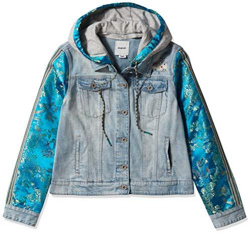 colore Giacca in jeans con cappuccio Desigual Chaq Carson azzurro