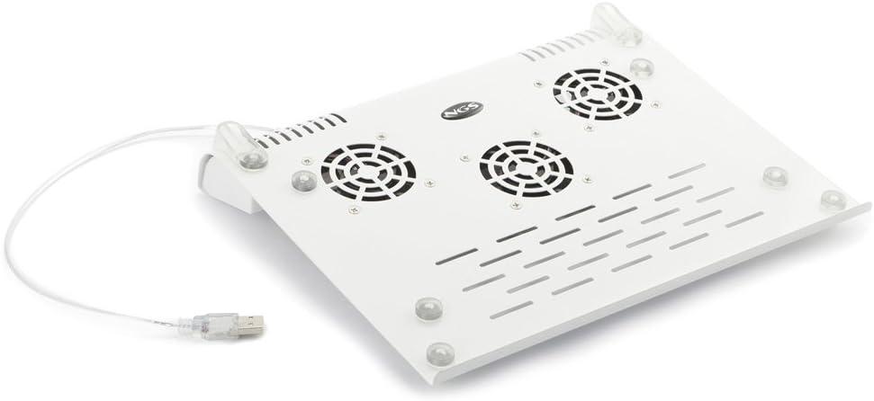 NGS Slim Stand - Base de refrigeración para portátil (USB 2.0, 3 ...