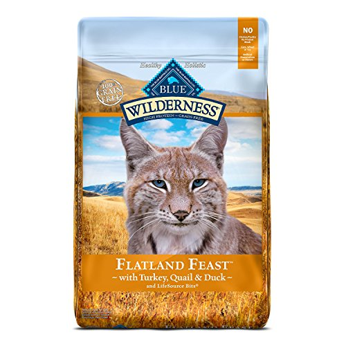 Blue Buffalo Wilderness High Protein Grain Free, Natural Adult Dry Cat Food, Flatland Feast With Turkey, Quail & Duck 10Lb Review