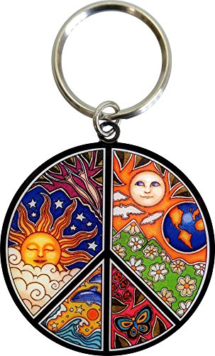 - Dan Morris - Peace Sign - Metal Keychain
