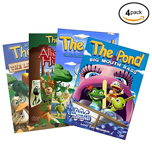 (Life at the Pond 4 Pack DVD Bundle - Alligator Hunter, The Little Things, Big Mouth Bass & There's Something Funny in the Water Children's DVD - Christian Movies Teaching Kids Godly Values & Character)
