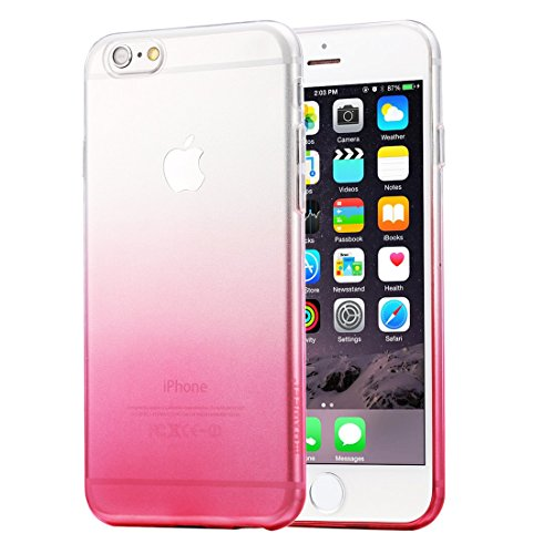 HAWEEL® Ultra Slim Gradient Color Clear Soft TPU Case for iPhone 6 Plus & 6s Plus(Pink)
