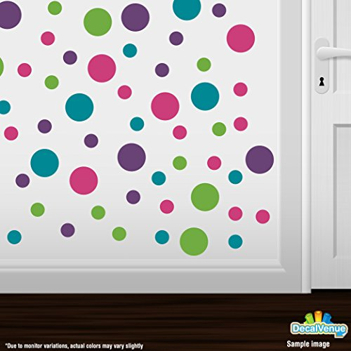 Circles Polka Decals Purple Turquoise product image